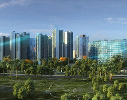 3D model Modern City Animated 063