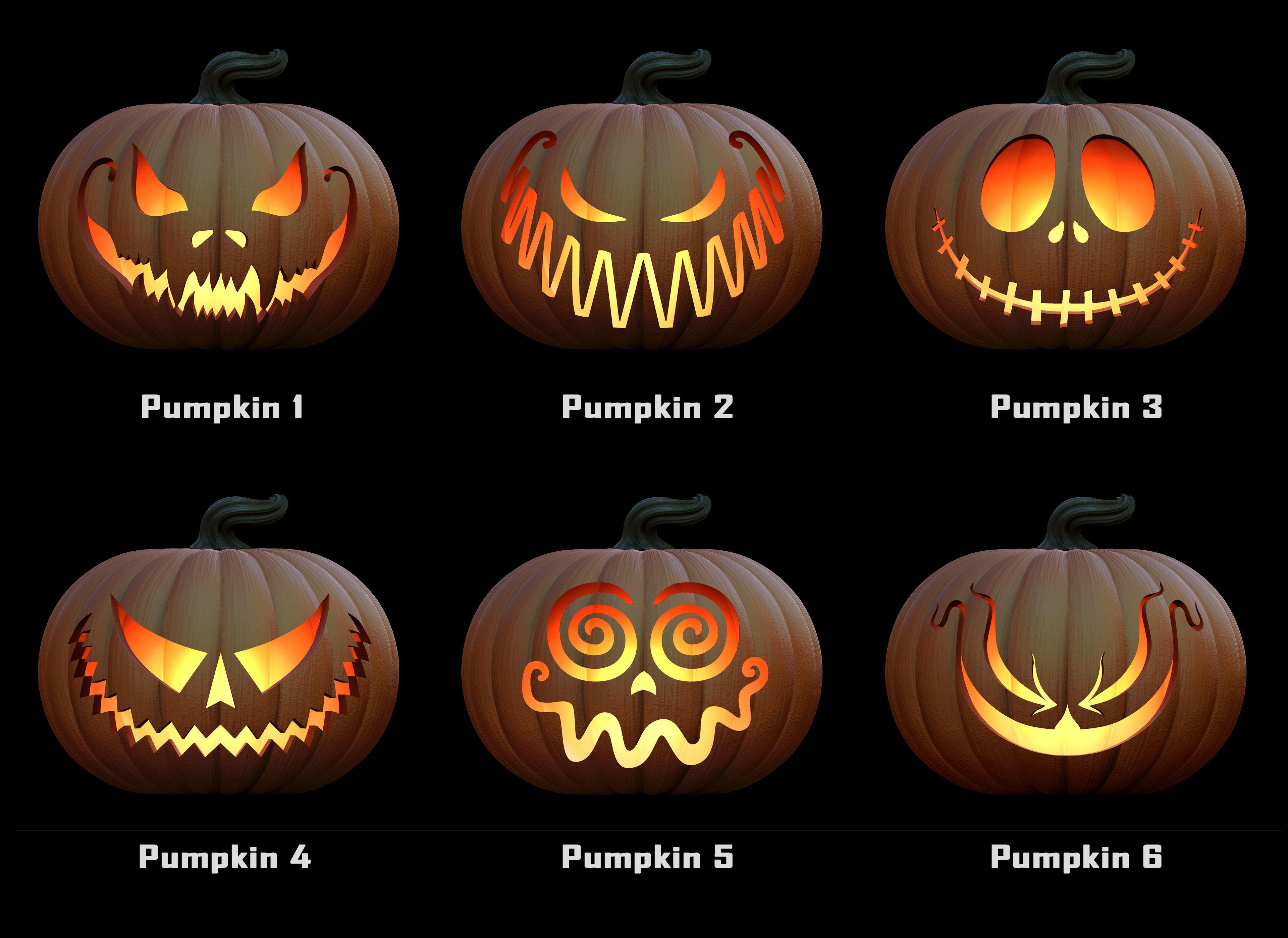 3d Printable Model Pumpkins For Halloween Cgtrader