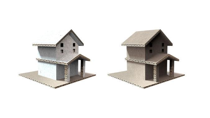 Cardboard Simple House 3d Model