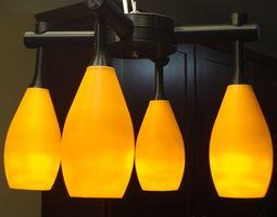 Four Lamp Chandelier 3D printable model