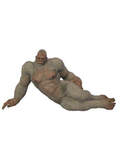 fur rug hairy man 3d model obj mtl fbx dae 1