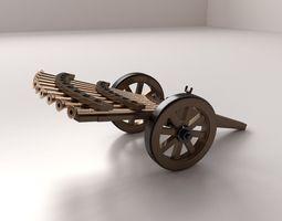 3d model da vinci machine gun