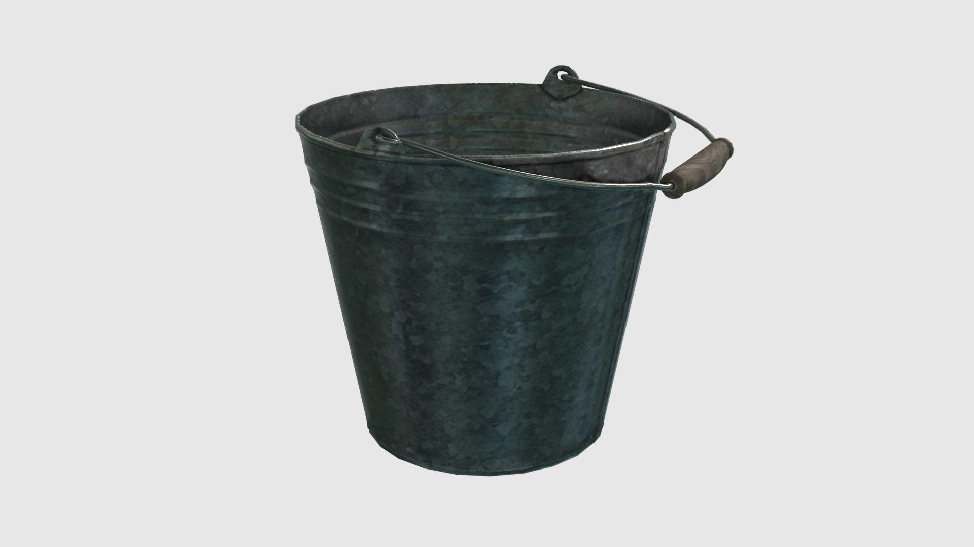 Low Poly Steel Bucket