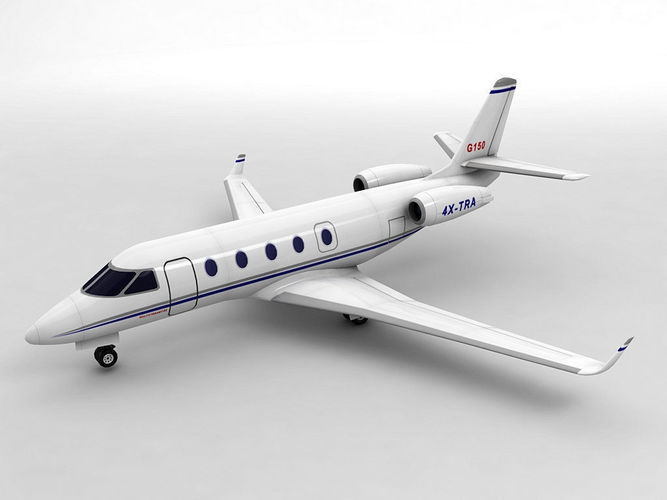 gulfstream g150 aircraft 3d model low-poly max obj mtl 3ds dxf stl wrl wrz 1