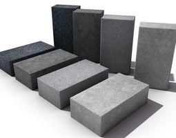 Bricks collection 3D model