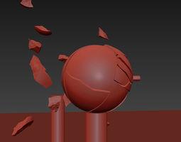 3D model Bullet Breaking Balls - Slow Motion