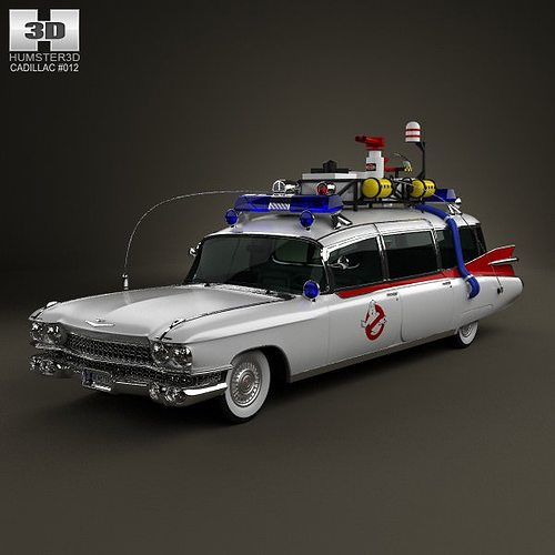 cadillac miller meteor ghostbusters ectomobile 3d model. Black Bedroom Furniture Sets. Home Design Ideas