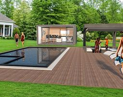 3D model MOBILE HOME POOL HOUSE GARDEN OFFICE GUEST 2