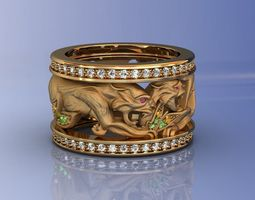 3D print model Magerit Pumas Ring