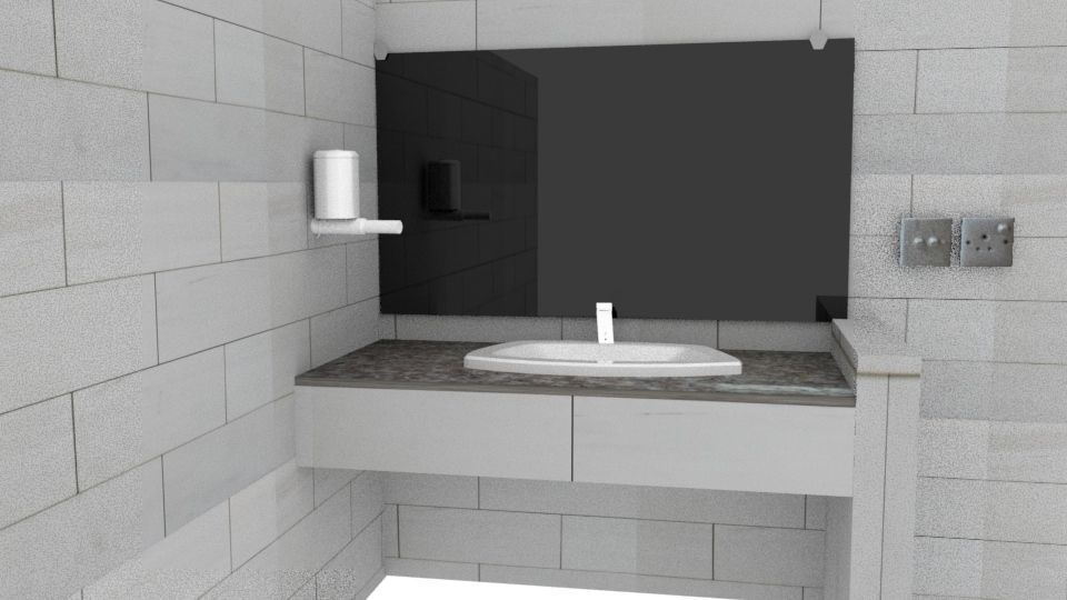 Washroom assets low poly