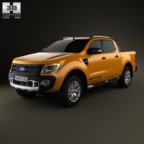 Ford Ranger Wildtrak Double Cab 20123D model