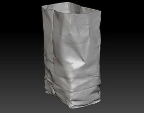 3D Paper bag zbrush model