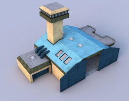 Airport 3D model game-ready