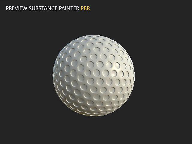 golf ball 3d model max obj mtl spp sbsprs 1