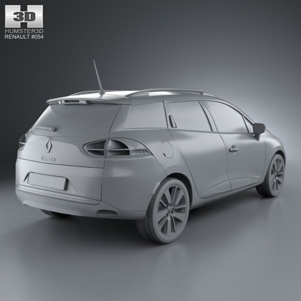 renault clio iv estate 2013 3d model max obj 3ds fbx c4d. Black Bedroom Furniture Sets. Home Design Ideas