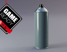 3D asset game-ready Spray Can