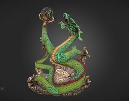 Dragon Statue Reimagined 3D orb