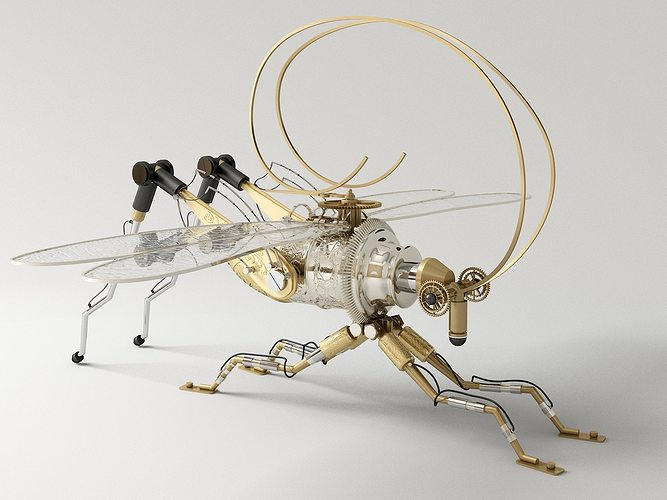 grasshopper spybot 3d model max 1