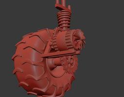 3D model Wheel Rough Engine