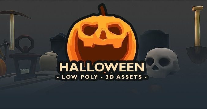 Halloween - Low Poly 3D assets