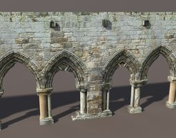 Castle Ruin 1 Low poly 3d Model 3D Model