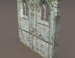 Castle Ruin -Wall Low Poly 3d Model 3D Model