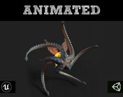 Flying Monster 3D asset animated realtime