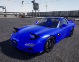 Mazda RX7 UE4 project 3D model