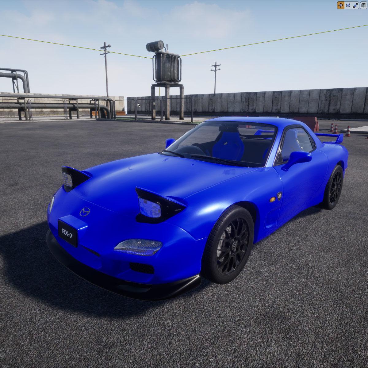 Mazda RX7 UE4 Project 3D Model