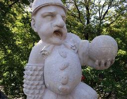 Mirabell Palace Salzburg - Dwarf with 3D print model 2