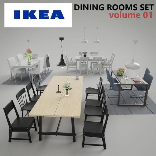 Ikea Dining Room Sets Vol01 3d Model Obj Mtl Fbx Lwo Lw Lws Dae Lxo Lxl ...