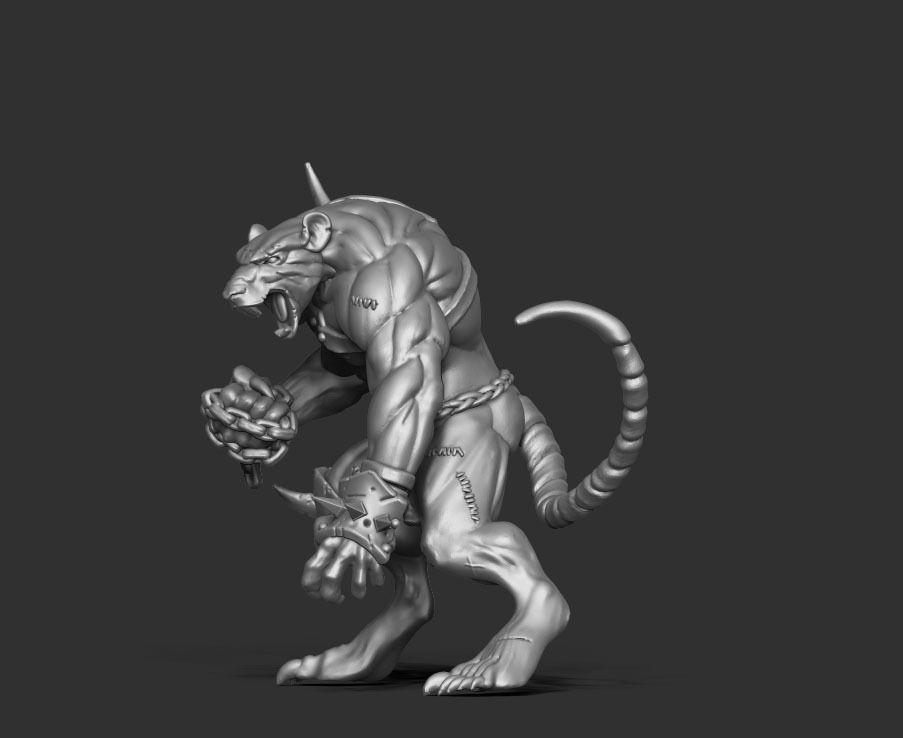 Rat Ogre 3d print model