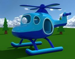 Toy Helicopter 3D model