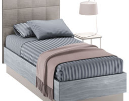 SINGLE BED 09 3D