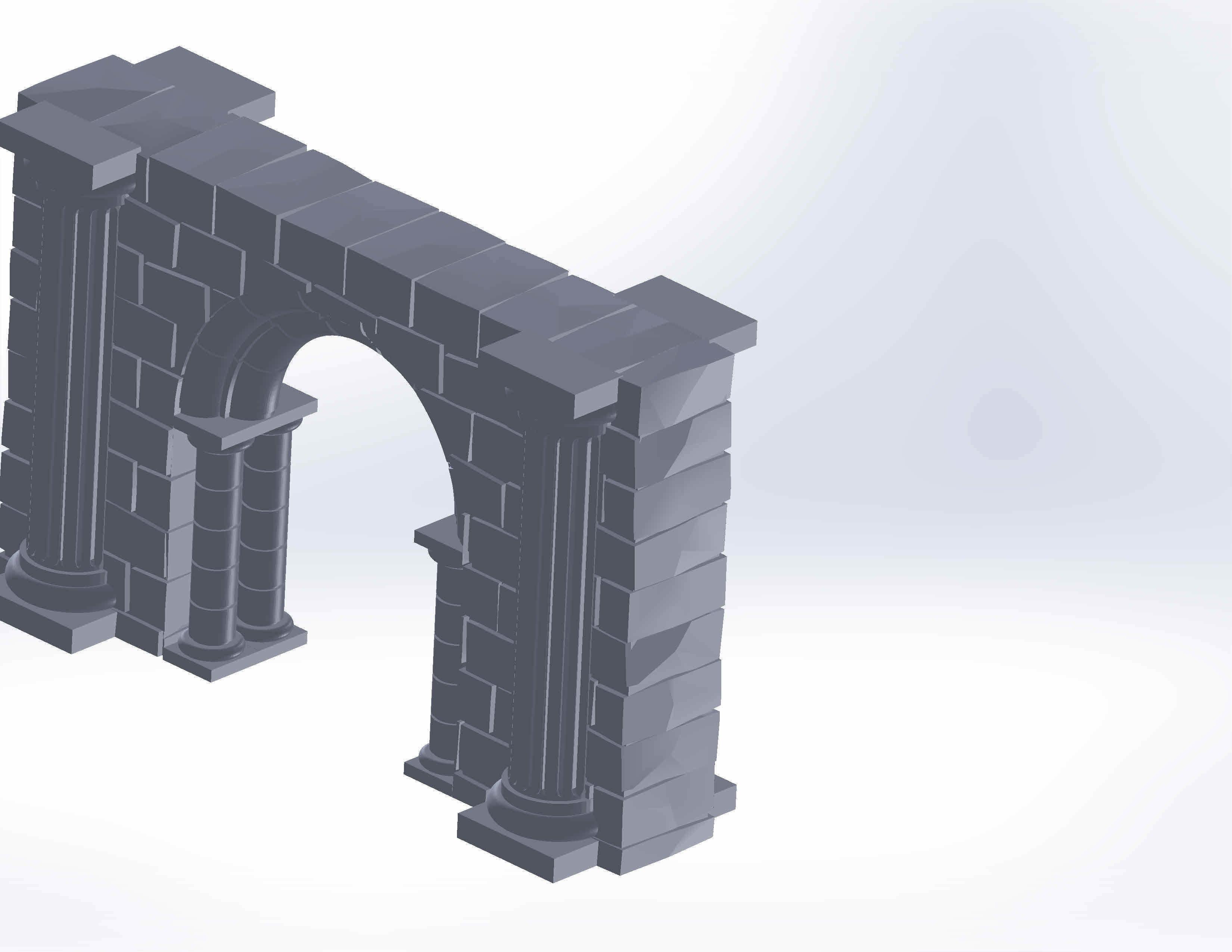 3d print scenery - Gothic design scenery | 3D Print Model