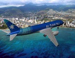 rigged boeing 787-8 air tahiti nui 3d model