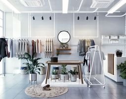 Clothing Store interior 3D model