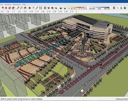 Sketchup Cultural center E4 3D
