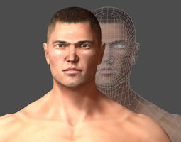 Base mesh Human Man Body Anatomy 3D model