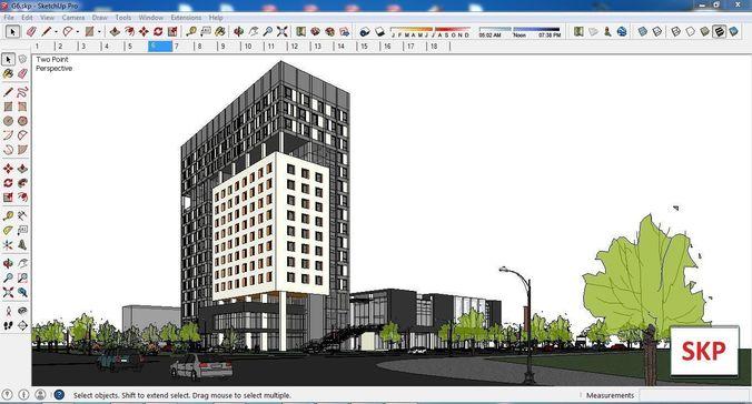 sketchup office building g6 3d model skp 1
