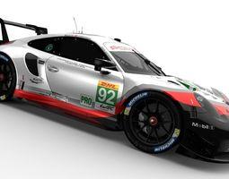 3D asset Porsche 911 RSR