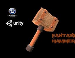 3D model Stylized Fantasy Hammer