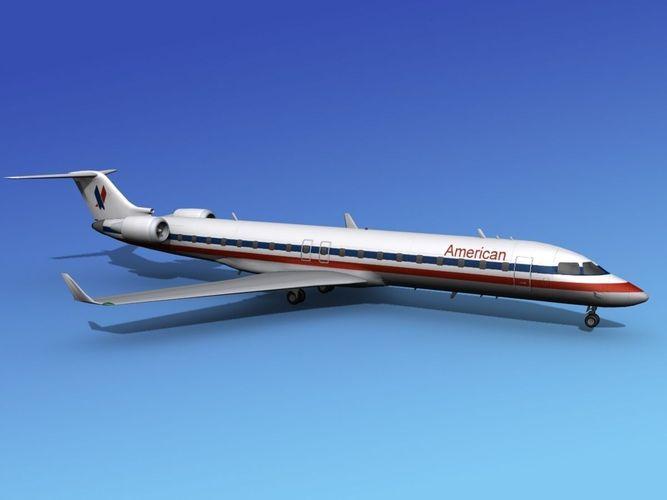 Bombardier CRJ700 American Eagle3D model