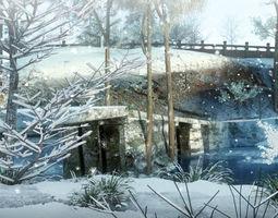 3D Snow Sence 005