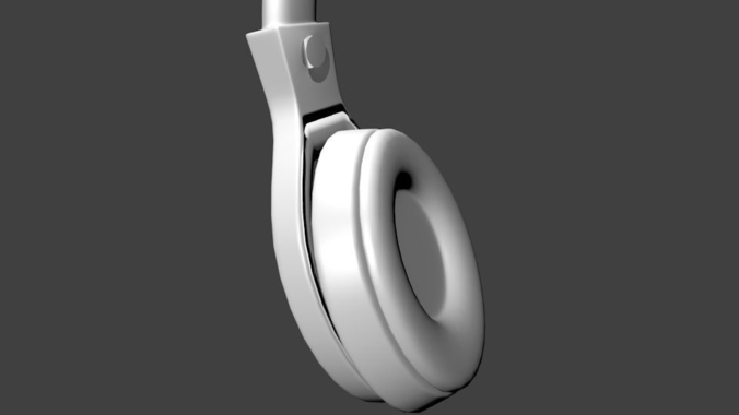 Headphones3D model