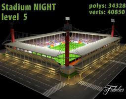 Stadium Level 5 Night 3D Model