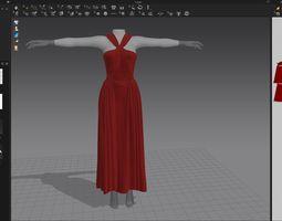 designer Wedding dress 3D model
