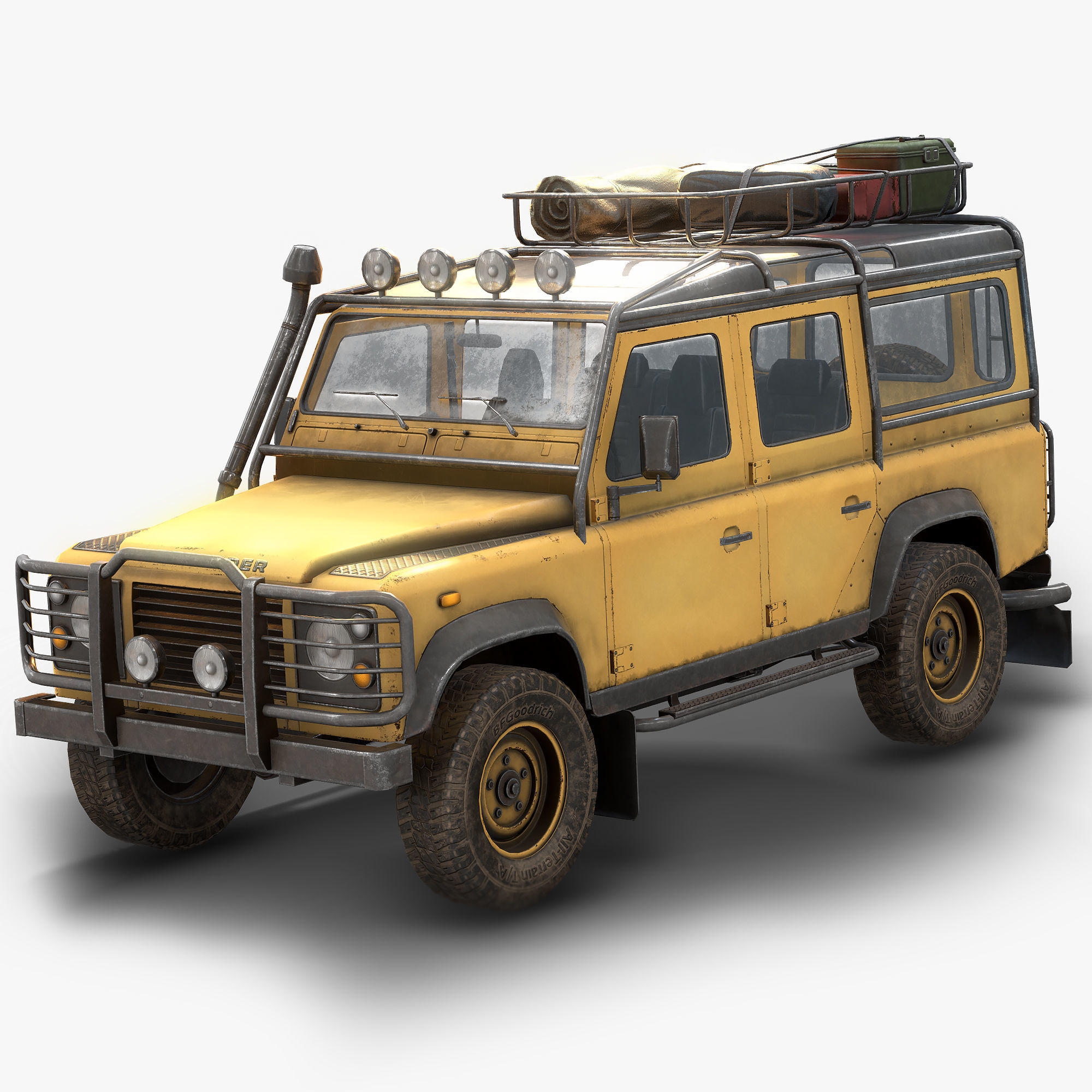 Land Rover Defender 110 Low Poly