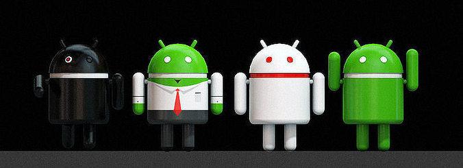 Android 3d logo 3D Model OBJ C4D