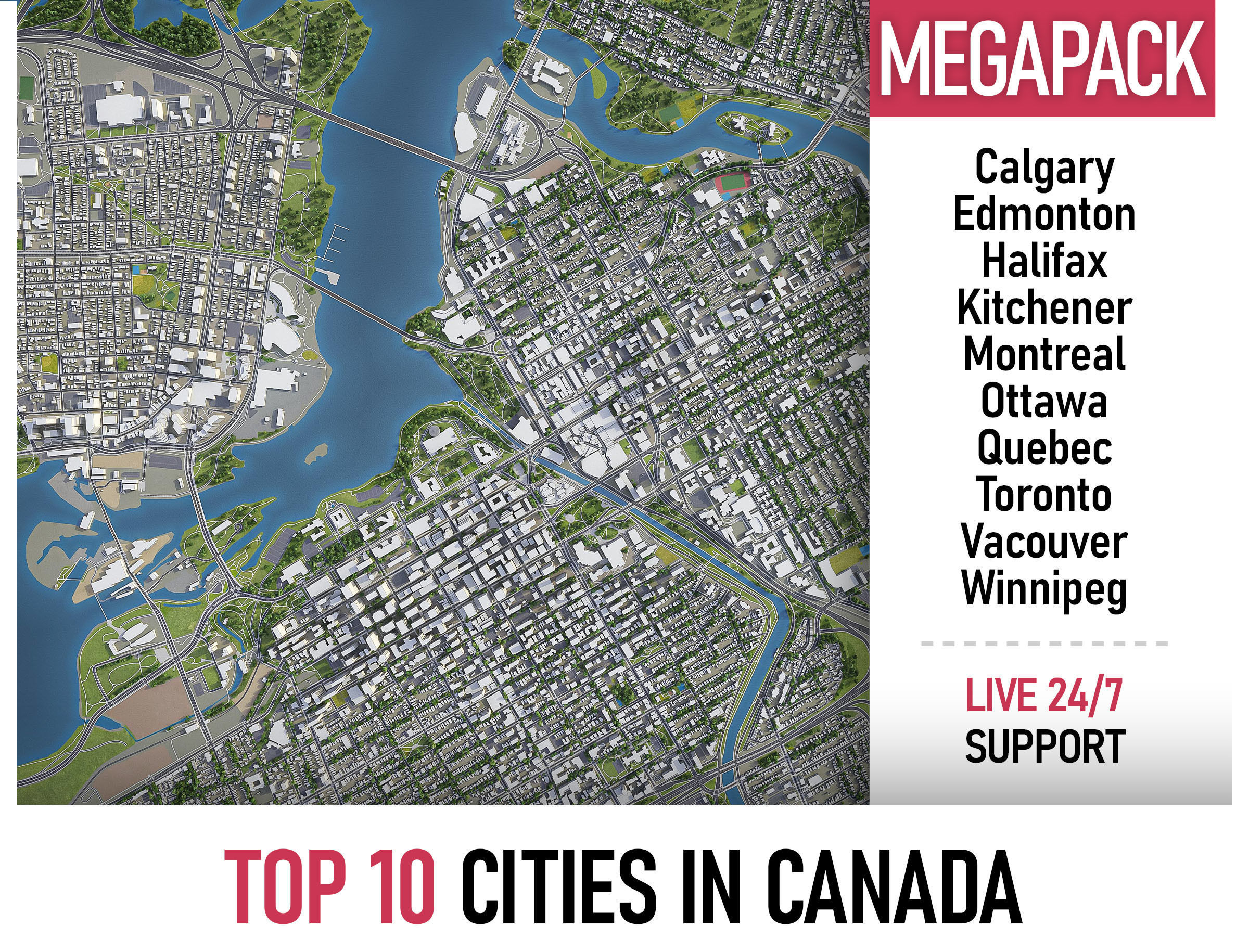 Top 10 Cities in Canada MEGAPACK
